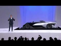 """Faraday Future reveals """"Car of Concept"""" FF Zero01 @ CES 2016 - The first electric supercar is born - YouTube"""