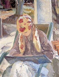 "Vanessa Bell (1932)  ""A Girl Reading"" A member of the Bloomsbury group"