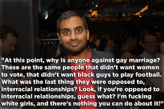 Aziz Ansari's Awesome Gay Marriage Comment