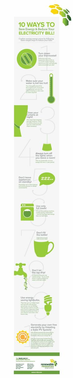 Just a few tips on how to save on energy bills!