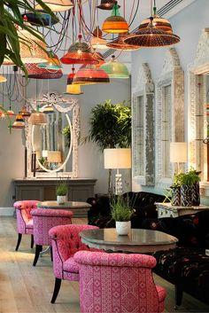 Ham Yard Hotel, Soho, London | Restaurant Furniture, Restaurant Interior Design #contract furniture #restaurantdesign #luxuryrestaurantdesing See more at www.brabbucontract.com/projects