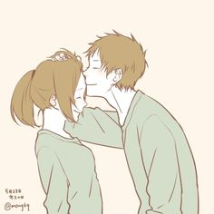 Image about girl in Ⓐⓝⓘⓜⓔ & Ⓜⓐⓝⓖⓐ ♔ by ιмαgιиє-єςѕтαѕу Cute Couple Drawings, Cute Couple Art, Cute Drawings, Manga Couple, Anime Love Couple, Cute Anime Couples, Kawaii Anime, Cute Couple Wallpaper, Couple Illustration