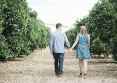 Orange Grove Engagement Session | Unique, Romantic and Classic Engagement Photogrpahy - Inspired Bride