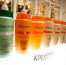 The Kérastase line-up. Visit our Facebook page to buy our products on-line and receive exclusive offers and discounts!