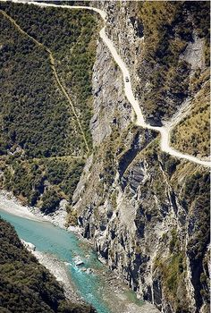 Skippers Road, New Zealand Built in the late 19th century to give miners access to a gold-rich canyon, Skippers Road is now a popular day trip for thrill-seeking tourists from nearby Queenstown. Motorists must apply for a permit before attempting to tackle the road and many car insurance companies will not provide cover in the event of an accident. Make it down to the river safely, and you can sign up for a bungee jump or a white water rafting excursion.