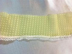 Sun Yellow  Dot Swiss Trim with Lace    2 1/4 inches wide     2 yards