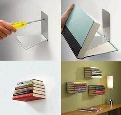 Creative and Smart DIY Bookshelves Decor. - Creative and Smart DIY Bookshelves Decor Ideas -