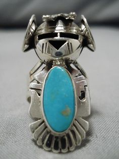 Items similar to Remarkable Native Native American Navajo Nel Morton Blue Gem Turquoise Sterling Silver Ring on Etsy Turquoise Rings, Vintage Turquoise, Turquoise Stone, The Ring Face, Platinum Jewelry, Diamond Jewelry, Jewelry Sites, Thing 1, Beautiful Necklaces
