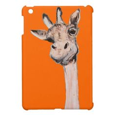 """""""Spaced-Out Giraffe"""" iPad Mini Case Hey....wait, a minute! Did you mean....uh, I mean do you...! OKAY! What the hell is the matter with this giraffe? Has he been smoking wacky weed or what? Actually the giraffe is an image that my wife, Gay Perry, gave up on, but I liked him!"""