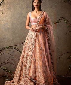 Indian Weddings Magazine, Another gorgeous #pink #orange and #gold #bridal...
