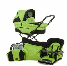 Amazon.com: Roan Rocco Classic Pram Stroller 2-in-1 with Bassinet and Seat Unit 6 (Six) Colors - Lime: Baby