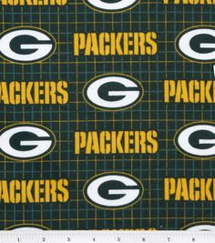 Green Bay Packers NFL Plaid Flannel Fabric