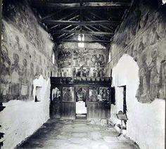 Άρτα, Ήπειρος. Το εσωτερικό της Εκκλησίας του Αγίου Βασιλείου, Φωτογραφία του Carl Siele, 1910. Εκτέθηκε στη Διεθνή Έκθεση της Ρώμης του 1911