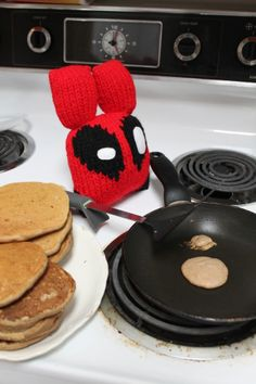 Deadpool and his pancakes!