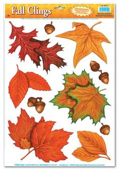 Fall Leaf Clings Party Accessory $0.97! - http://dollartreesavings.com/fall-leaf-clings-party-accessory-0-97/
