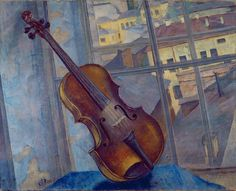 Violin (1918) Kuzma Sergeevich Petrov-Vodkin. State Russian Museum, St. Petersburg, Russia