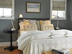 Intimate Retreat - Beautiful Bedrooms: 15 Shades of Gray on HGTV