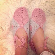 Crochet slippers by my mum.