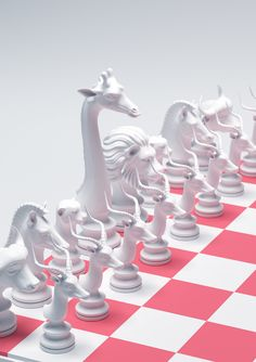 At first we thought it might be hard to distinguish which animal represents each piece. Wonderful and lovely interpretation of this design assignment that so many try to tackle. 3d Chess, Chess Sets, Chess Logo, Chess Cake, Giant Chess, Chess Set Unique, Kings Game, Impression 3d, Modelos 3d