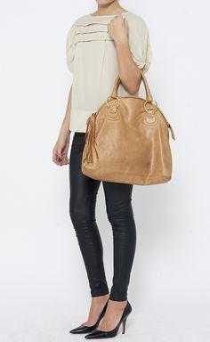 Bulga Tan Handbag | $95