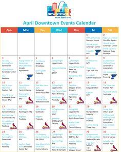 April Downtown Events Calendar