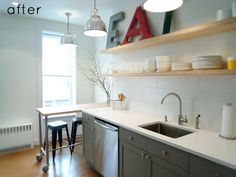 before & after: clean + simple kitchen redo | Design*Sponge