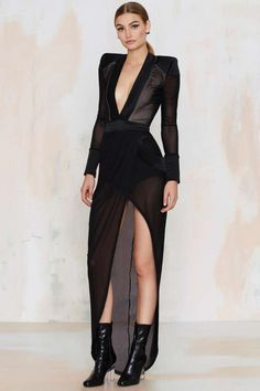 Zhivago Eye of Horus Sheer Slit Dress - Clothes | Best Sellers | Back In Stock | Going Out | LBD | Dresses