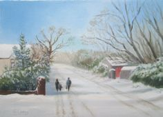 Turvey Avenue in the Snow by Geraldine Leahy