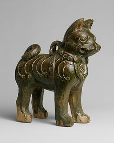 Figure of a Dog. Eastern Han dynasty (25–220). China. The Metropolitan Museum of Art, New York. Gift of Stanley Herzman, in memory of Adele Herzman, 1991 (1991.253.1) #dogs