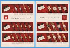 1951 Elgin Watch Diamond Lady Lord All Models Vintage Mid Century Christmas Ad | eBay