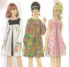 1967 McCall's Uncut Pattern 8945 Gogo Dress Pattern  - so remember these dresses!