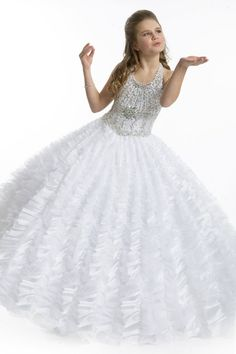 Cheap communion flower girl dresses, Buy Quality flower girl dresses directly from China pageant dresses Suppliers: 2016 White Halter Beads Ball Gown Holy First Communion Flower Girls Dresses Little Girs Pageant Dress Cheap Pageant Dresses, Pagent Dresses, Little Girl Pageant Dresses, Junior Prom Dresses, Pageant Gowns, Girls Dresses, Flower Girl Dresses, Flower Girls, Dresses 2014