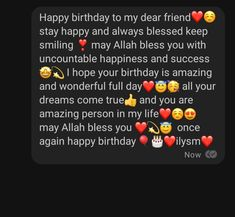 Happy Birthday Best Friend Quotes, Happy Birthday Quotes For Friends, Happy Birthday Wishes Cards, Birthday Quotes For Best Friend, Birthday Wishes And Images, Cute Texts For Him, Birthday Captions Instagram, Happy Birthday Template, Happy Birthday Wallpaper