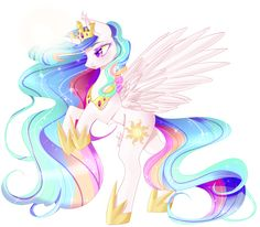 Princess Celestia by Clefficia on DeviantArt My Little Pony List, Mlp My Little Pony, My Little Pony Friendship, Princesa Celestia, Celestia And Luna, Arte Quilling, My Little Pony Wallpaper, My Little Pony Characters, My Little Pony Drawing