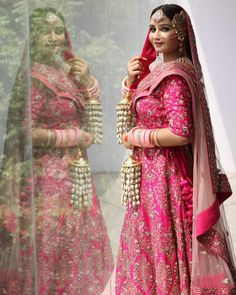 Pink Lehenga, Bright Pink, Sari, Shopping, Instagram, Fashion, Saree, Moda, Fashion Styles