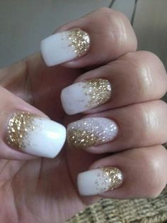 Christmas new years nails by marjorie westkelowna bc canada dec 17 2013 silver and gold