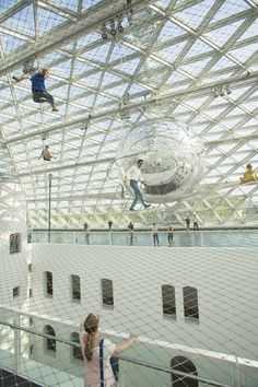 Tomás Saraceno in orbit installation at K21 STÄNDEHAUS #installations #Art #exhibitions