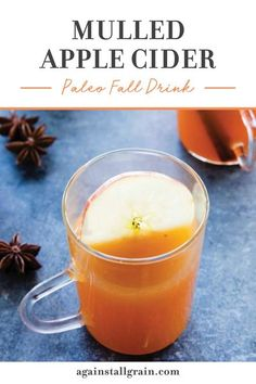 Unfiltered apple cider is heated on the stovetop (or crockpot!) with spices and citrus to create an incredible autumnal beverage. Serve this paleo friendly drink for your holiday celebrations! This is the BEST fall drink. #paleoapplecider #applecider #paleo Fall Dinner Recipes, Fall Recipes, Drink Recipes, Snack Recipes, Fall Drinks, Fun Cocktails, Summer Drinks, Paleo Lemonade Recipe, Mulled Apple Cider