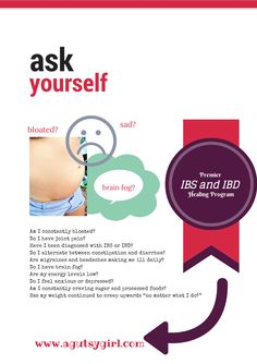 Premier IBS and IBD Healing Program. Ready to heal your gut in 2014? Ask yourself....www.agutsygirl.com #guthealing