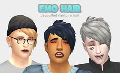 """cabsim: """" of course i loved that dumb pete wentz hair from vampires BUT in a typical ea fashion, it was too big!! so i made it smaller and cuter looking :^) • base game compatible • male frame only •..."""