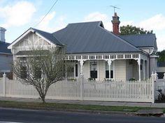 Grey roof, white windows