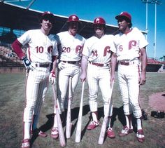 Larry Bowa, Mike Schmidt, Pete Rose and Manny Trillo...Philadelphia Phillies