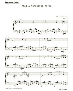 Free What a Wonderful World Sheet Music Preview 1