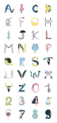 15 Ideas For Embroidery Letters Fonts Alphabet Alphabet Design, Alphabet Art, Lettering Design, Hand Lettering, Letras Cool, Schrift Design, Animal Letters, Embroidery Letters, Typography Letters