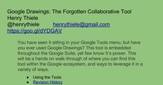 Google Drawings: The Forgotten Collaborative Tool