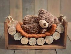 Wood hammock wooden props baby photography prop photo by Mamamada