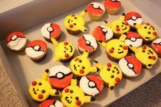The answer to my Pikachu cake! These cupcakes were easy peasy and look just like the picture! Thanks CutestFood site!