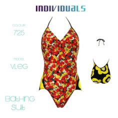 #bathing #suit #colorful #yellow #flower