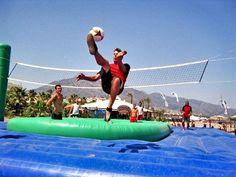 soccer + volleyball + dancing + trampoline = bossaball