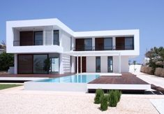 Contemporary Summer House in Menorca Modern Barn House, Modern Cottage, Modern Architecture House, Architecture Design, Contemporary Summer Houses, House Outside Design, Modern Villa Design, Model House Plan, Home Building Design